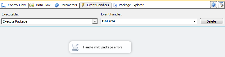 Execute Package Editor - On Error Handler